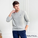 Nautica經典款長袖針織衫-灰色