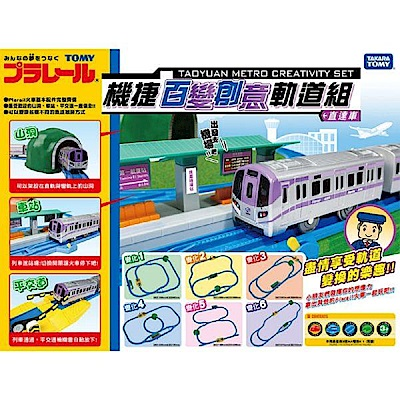 任選日本PLARAIL 鐵道王國 機捷百變創意軌道組_TP61887 TAKARA TOM