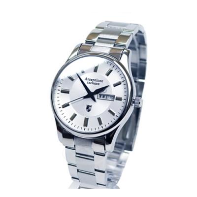 Arseprince 復刻回憶雙日顯示腕錶-白色/38mm