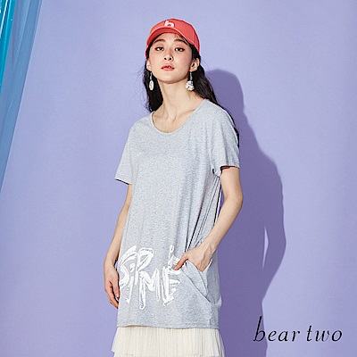 beartwo 塗鴉SIMPLE口袋長T(二色)