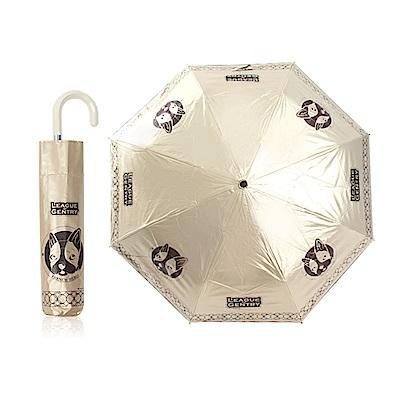 雙龍TDN  抗UV降溫 超撥水傘面 三折晴雨傘-法鬥