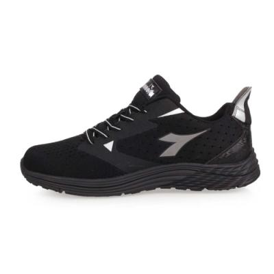 DIADORA 男飛織彈力健步鞋-寬楦-慢跑 路跑 走路鞋 黑銀