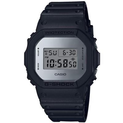 G-SHOCK 復刻版回歸經典運動休閒錶(DW-5600BBMA-1D)銀框/42.8mm
