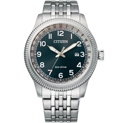 CITIZEN 星辰 GENT S 經典錢幣紋錶框復古男錶-(BM7480-81L)42.5mm