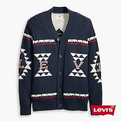 Levis 男款 針織毛衣外套 LOGO印花 純羊毛