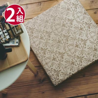 絲薇諾 MIT太空記憶坐墊-卡其金/2入組(54×56cm)
