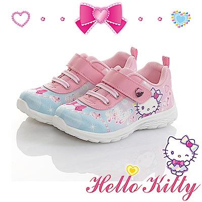 HelloKitty 寶石系列 輕量減壓抗菌防臭休閒童鞋-粉