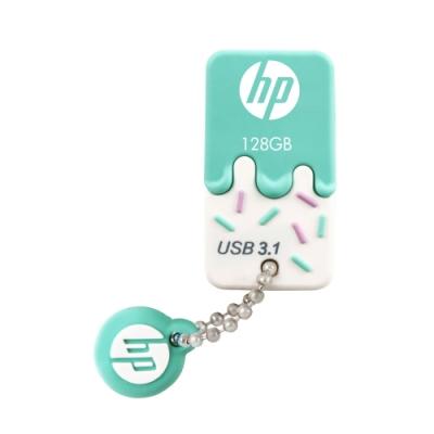 HP 惠普 x778w USB3.<b>1</b> 128GB 薄荷雪糕造型隨身碟