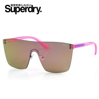 Superdry極度乾燥 墨鏡/太陽眼鏡 SUPERSYNTH系列 炫彩亮面電鍍款-咖啡綠/粉