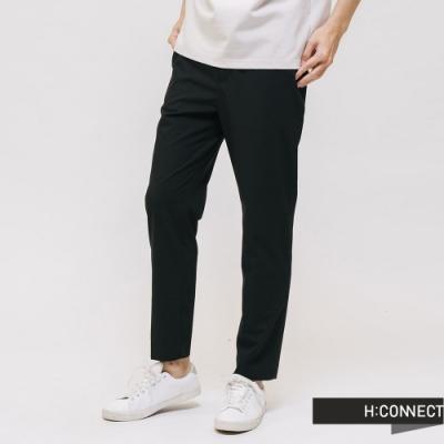 H:CONNECT 韓國品牌 男裝 -俐落素面西裝褲 - 黑