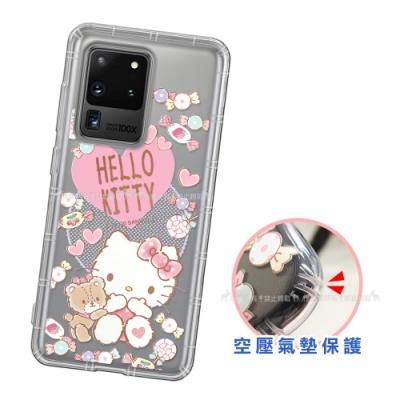 三麗鷗授權 Hello Kitty凱蒂貓 三星 Samsung Galaxy S20 Ultra 愛心空壓手機殼(吃手手)