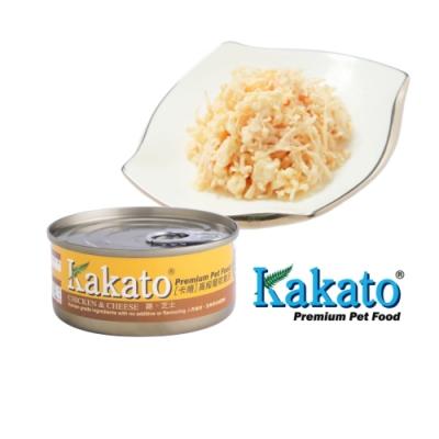 Kakato 卡格餐食罐 (雞、起司)70g 鮮食 貓狗共食  貓罐 狗罐 天然罐 挑食