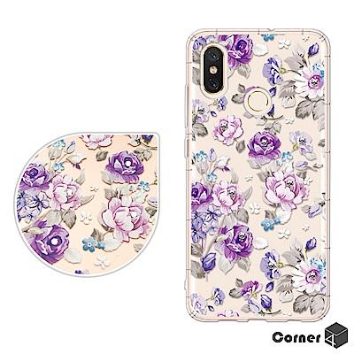 Corner4 Xiaomi 小米8 奧地利彩鑽防摔手機殼-紫薔薇