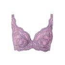 黛安芬-E+大女人系列 包覆透氣 F-G全罩杯內衣 紫藕色