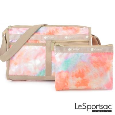LeSportsac - Standard雙口袋斜背包-附化妝包 (迷幻珊瑚)