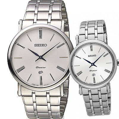 SEIKO Premier 真愛密碼時尚對錶(SKP391J1+SXB429J1)