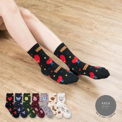 阿華有事嗎 韓國襪子  阿米最愛中筒襪(4) 韓妞必備長襪 正韓百搭純棉襪