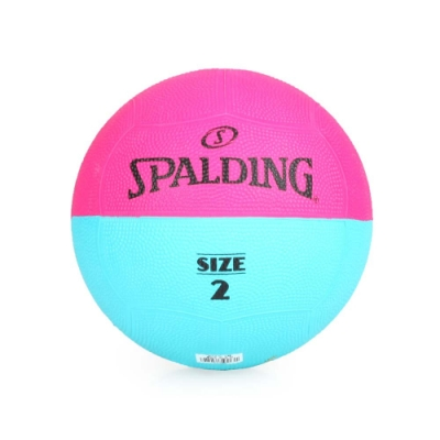 SPALDING Team 躲避球#2 桃紅水藍
