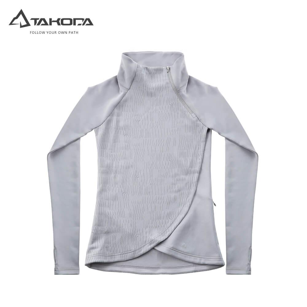 TAKODA 吸濕排汗輕柔機能上衣 女款 灰色