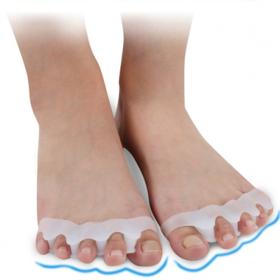JHS杰恆社abe024貳組矽膠拇外翻分趾器五指分離器腳趾固定器大腳骨美形重疊腳趾護