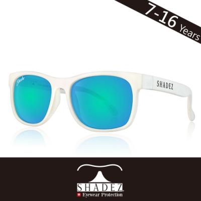 瑞士SHADEZ兒童頂級偏光太陽眼鏡SHZ-409年齡7-16)-白框天空藍