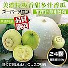 【天天果園】網室香甜美濃瓜(每顆約220g) x24顆