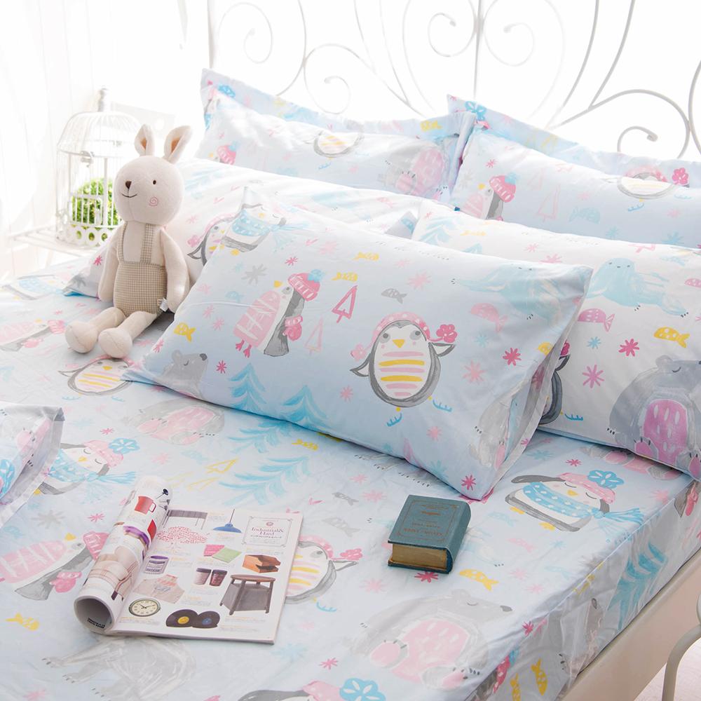OLIVIA  冬季樂園  標準單人床包枕套兩件組 200織精梳純棉