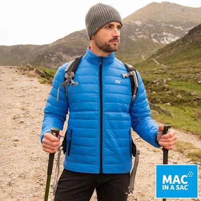 【MAC IN A SAC】男款輕暖袋著走雙面羽絨外套MNS126寶藍橘/輕量保暖/收納體積小