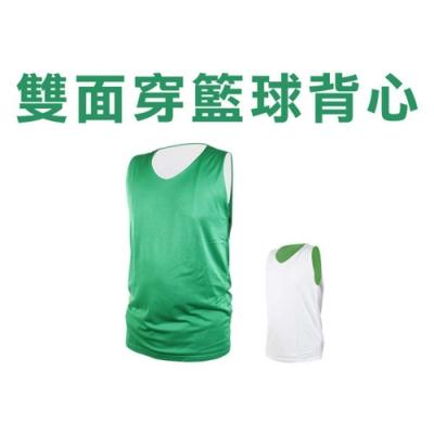 INSTAR 男女 雙面籃球背心 綠白