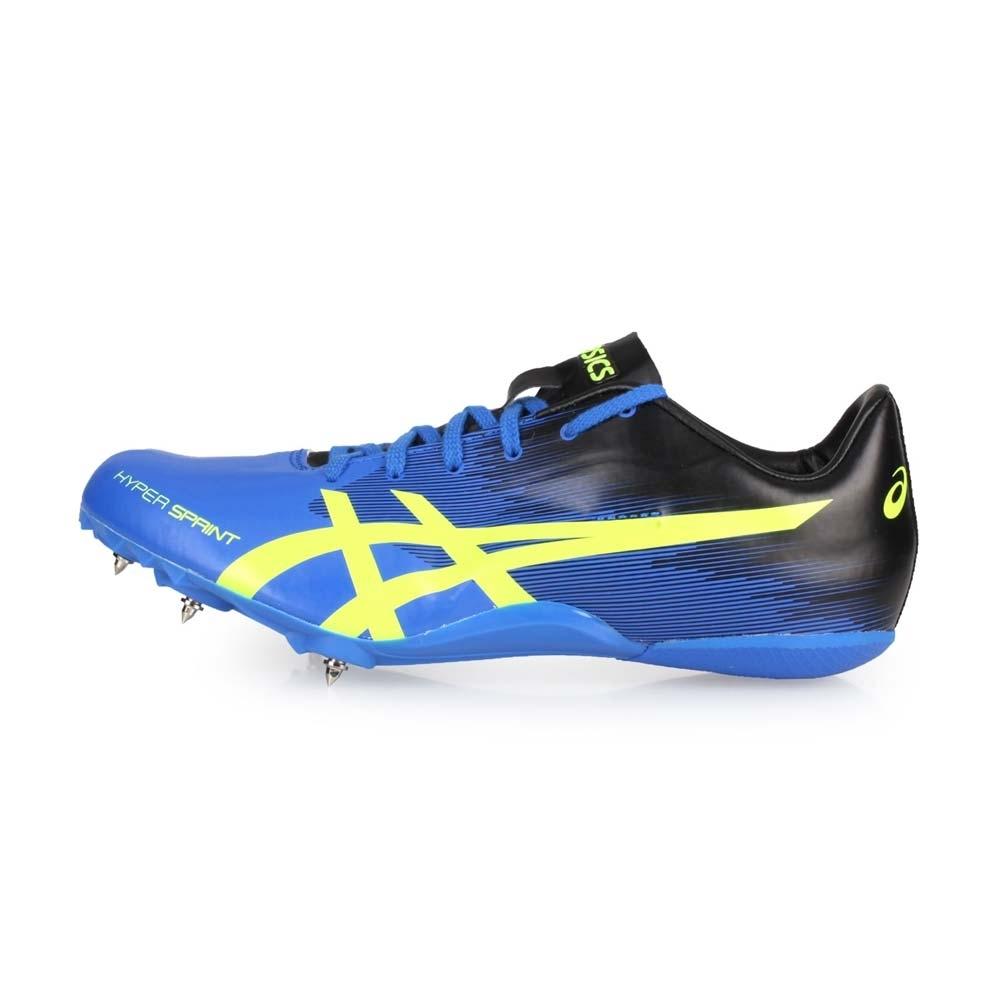 ASICS 男女 田徑釘鞋短距離 HYPERSPRINT 7 藍黑螢光綠