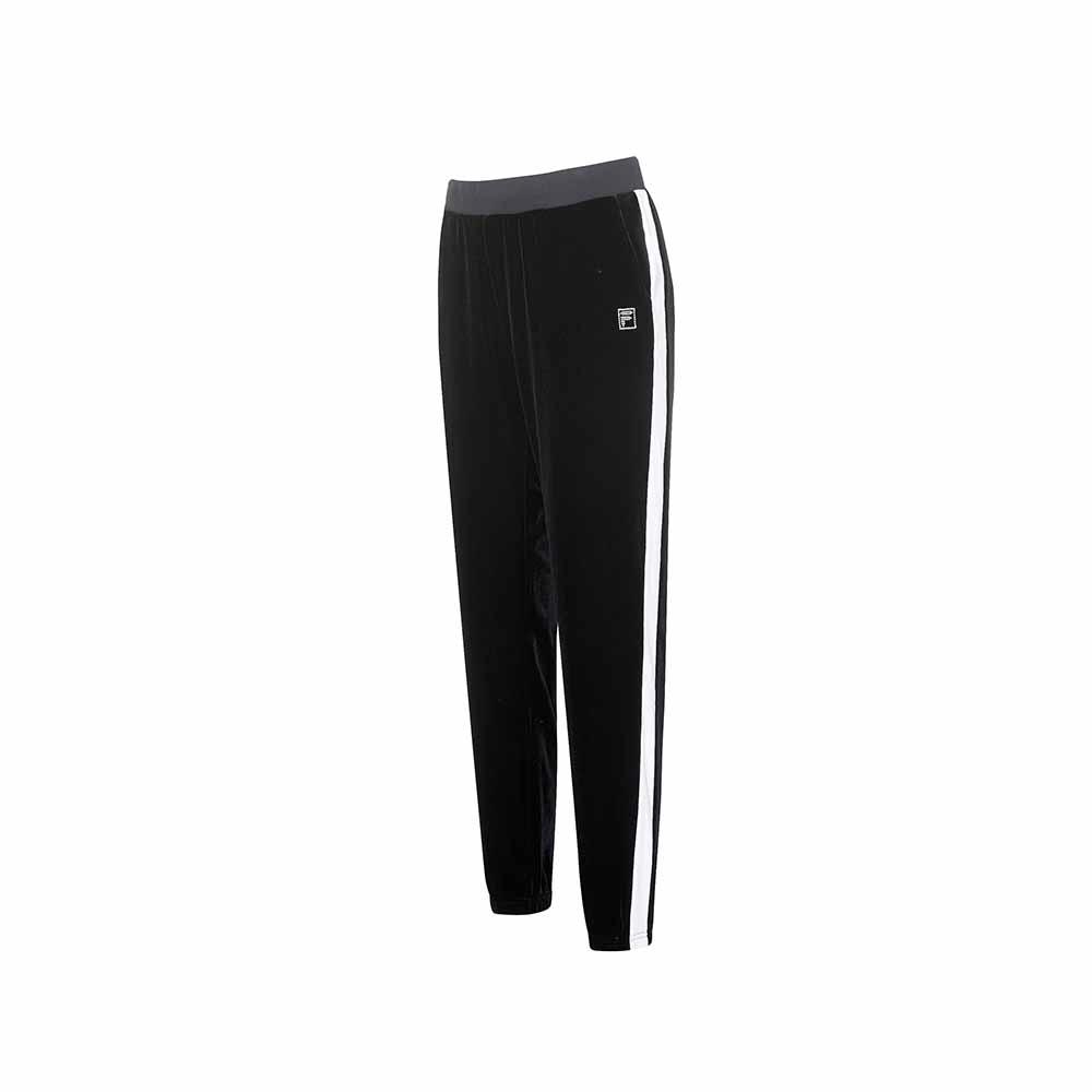 FILA 女針織長褲-黑色 5PNU-5606-BK