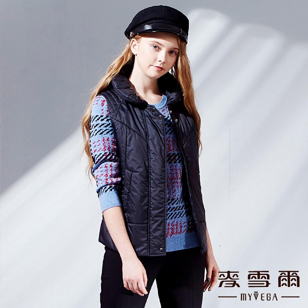 【麥雪爾】義大利羊毛千鳥格紋針織衫