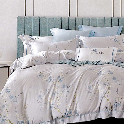 Lily Royal 100支尊爵天絲 四件式兩用被床包組 雙人 青櫻雅韶