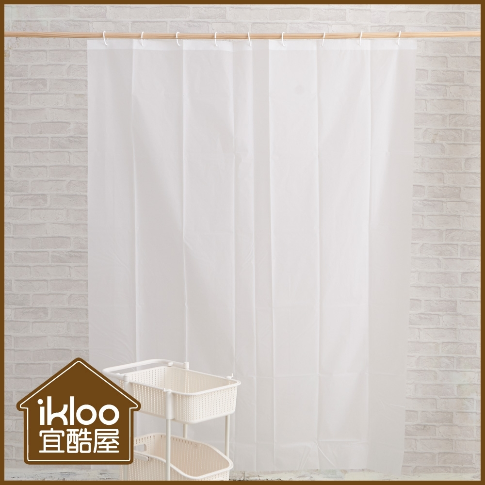 【ikloo】兩用防疫隔離簾/浴簾