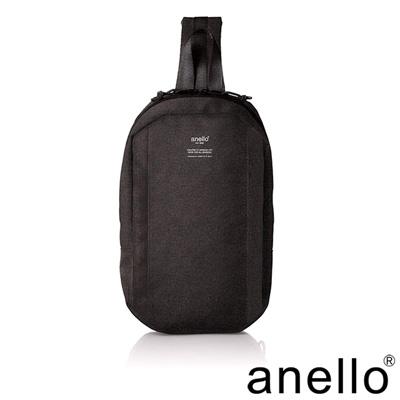 日本正版anello 高雅混色紋理單肩後背包 黑色 BK