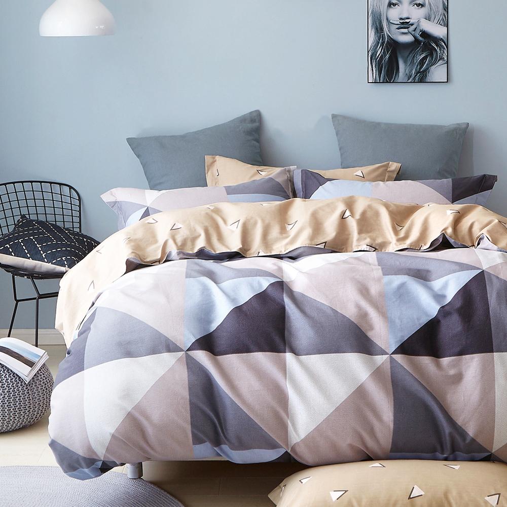 Ania Casa 回憶空間 加大四件式 100%精梳棉 台灣製 床包被套純棉四件組