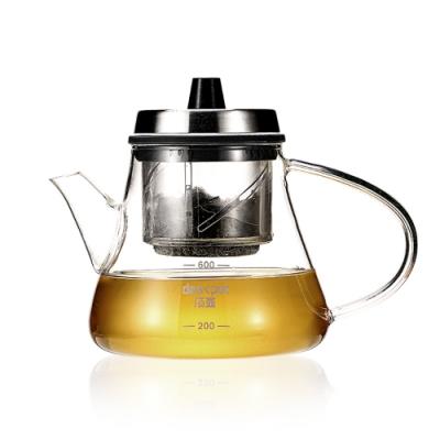 PUSH! 茶湯分離濃淡自控旋轉升降泡茶壺600ML(E141)