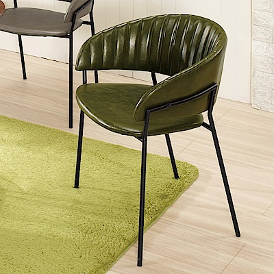 Boden-希勒皮面餐椅/單椅(三色可選)(二入組合)-59x51x74cm