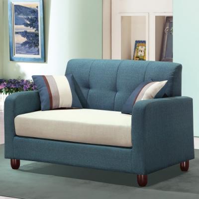 H&D 藍布二人座沙發