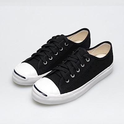 BuyGlasses 簡約時尚微笑帆布鞋-黑