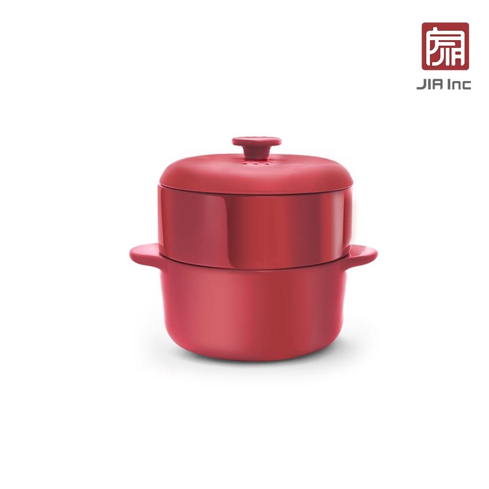 JIA Inc. 品家家品 響食版蒸鍋蒸籠24cm(白色/紅色任選)