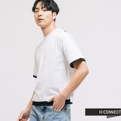 H:CONNECT 韓國品牌 男裝 -H印字層次感T-shirt-白