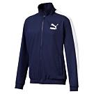 PUMA-男性流行系列經典T7立領外套-重深藍-歐規