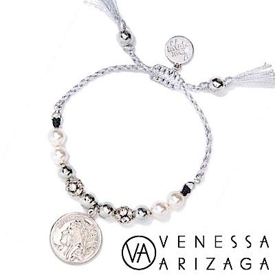 Venessa Arizaga Moonrise 古典錢幣珍珠手鍊 銀色沙灘手鍊