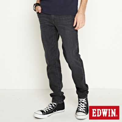 EDWIN EDGE LINE 超彈窄管牛仔褲-中性-黑灰色
