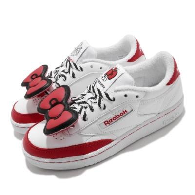Reebok 休閒鞋 Club C 85 運動 女鞋 海外限定 聯名 kitty 球鞋穿搭 白 紅 EH3051