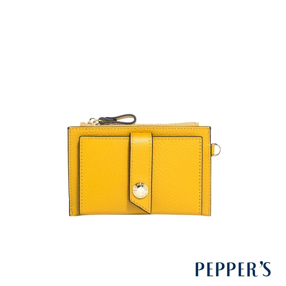 PEPPER'S Beverly 牛皮票卡夾 - 鮮黃