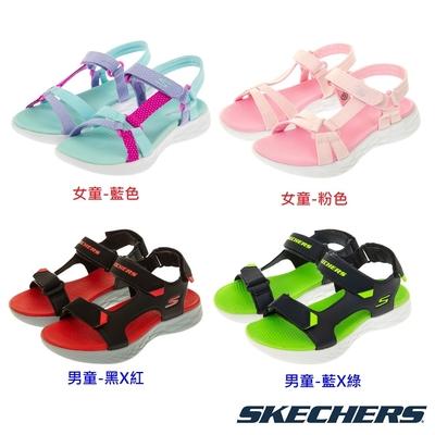 [長高換鞋66折]SKECHERS 男女童經典四季涼鞋 (17cm~23.5cm)