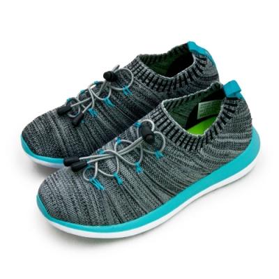 ARNOR 輕量Q彈編織慢跑鞋 飛織未來系列 灰藍 82308