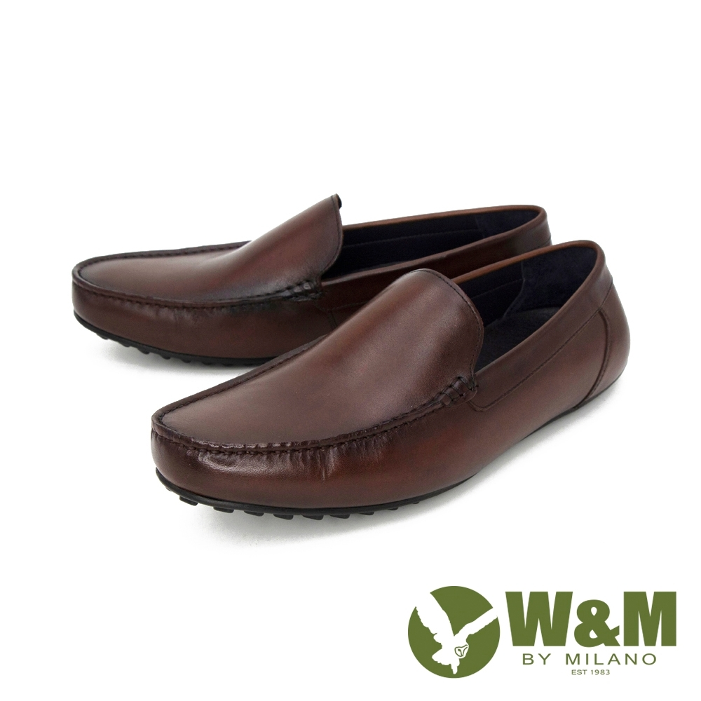 W&M(男) 經典素面內增高莫卡辛 樂福鞋 開車鞋 男鞋 -咖(另有黑)